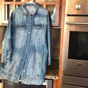 Jackets & Blazers - Oversized Fall Denim Jacket